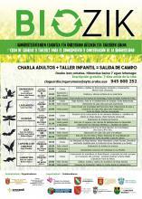 Cartel primer ciclo de charlas y talleres para el conocimiento y la conservación de la biodiversidad.