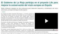 El Gobierno de La Rioja participa en el proyecto Life para mejorar la conservación del visón europeo en España