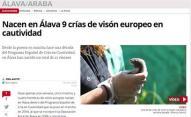 Nacen en Álava 9 crías de visón europeo en cautividad