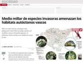 Medio millar de especies invasoras amenazan los hábitats autóctonos vascos