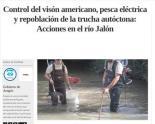 Control del visón americano, pesca eléctrica y repoblación de la trucha autóctona: Acciones en el río Jalón